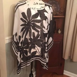 Laura Ashley sheer poncho style top